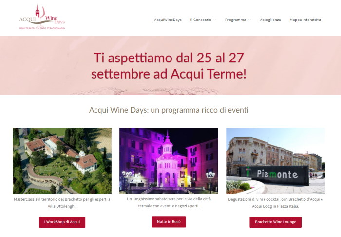 sito web degli acqui-wine-days