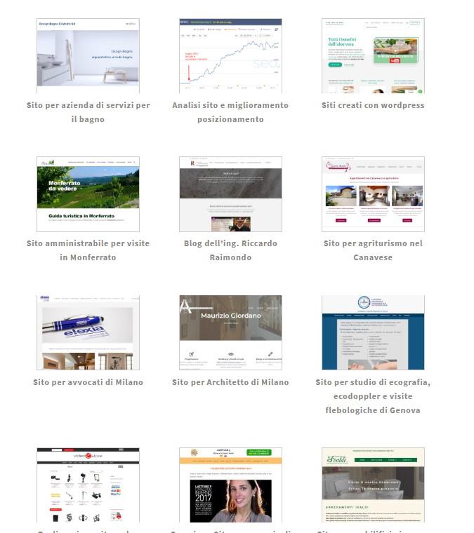 siti web realizzati